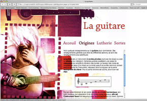 Guitare Website by Rorohe
