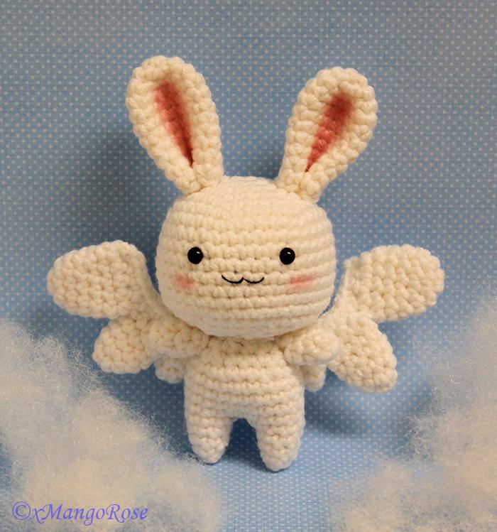 Flying Rabbit Amigurumi Angel Crochet Pattern By Xmangorose On