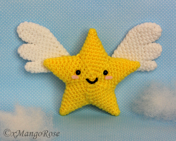 Star with Wings Amigurumi Crochet Pattern by xMangoRose on ...