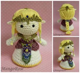 Zelda Amigurumi Doll Plush by xMangoRose