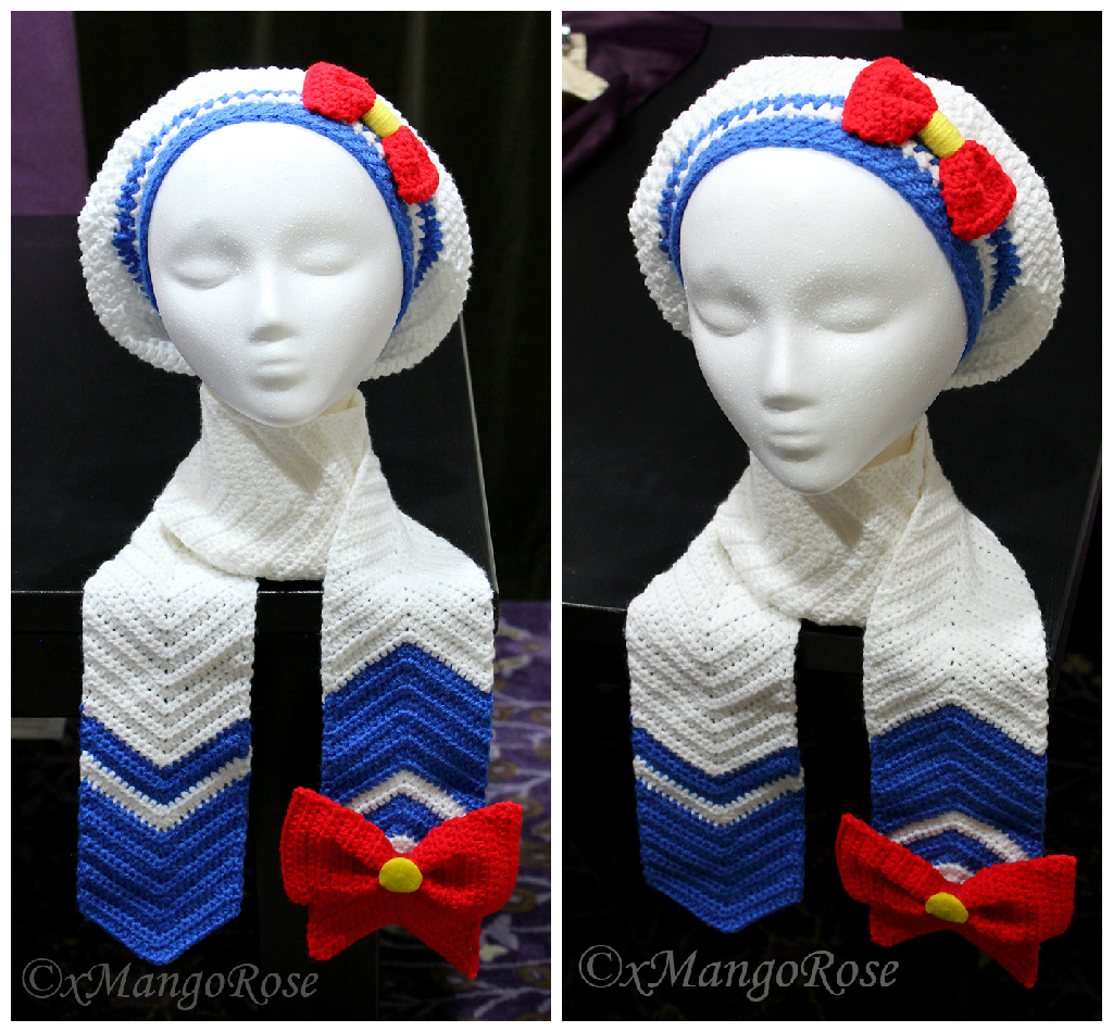 Sailor Moon Inspired Scarf and Slouchy Beret Hat by xMangoRose on ...