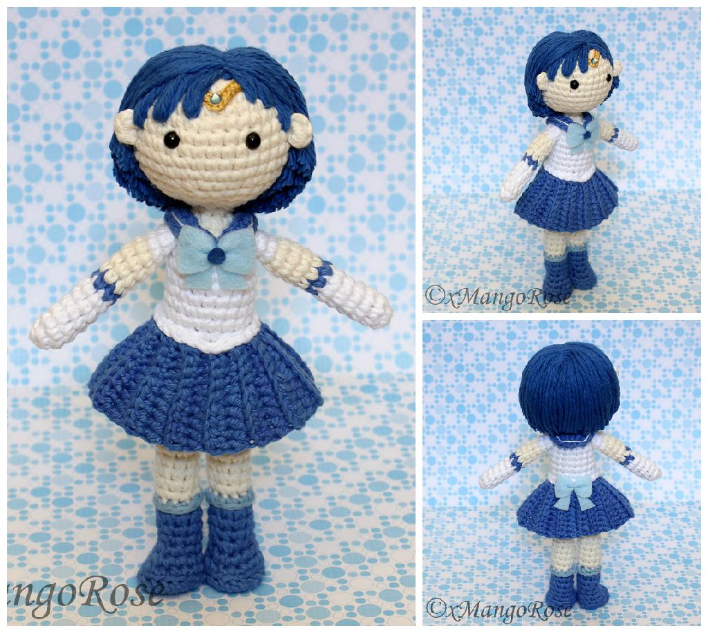 Amigurumi Seilor Moon : Sailor Mercury Amigurumi Plush Doll by xMangoRose on ...