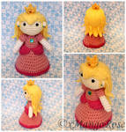 Princess Peach Amigurumi Doll