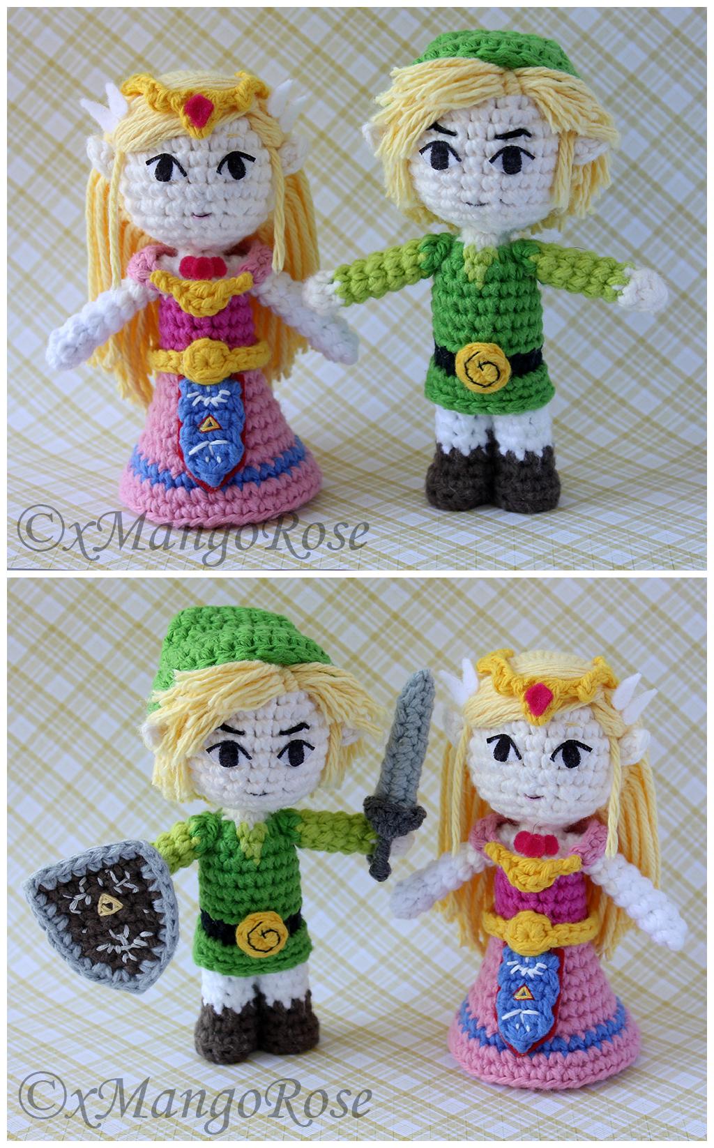 Amigurumi Mouse Pattern : Toon Link and Zelda Amigurumi Doll Plush by xMangoRose on ...