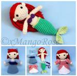The Little Mermaid - Princess Ariel Amigurumi Doll