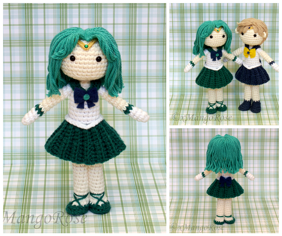 Sailor Neptune Amigurumi Doll by xMangoRose