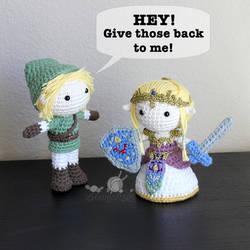 Link and Zelda Crochet Dolls (The Legend of Zelda)