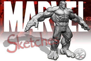 The Red Hulk Sketch by LittleShaolin