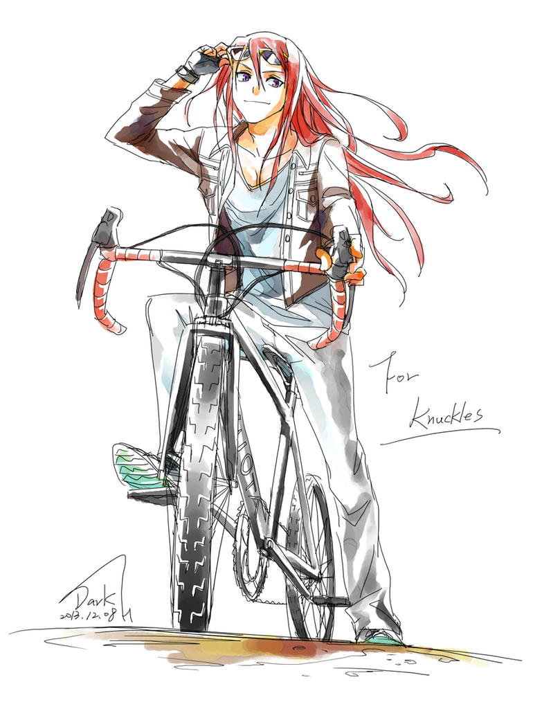 Knuckles and Bike by hiro150106