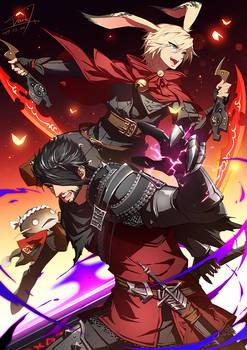 FFXIV - Ray and Ace Blackwolfe by DarkHHHHHH