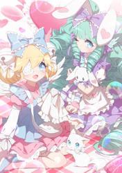 OCs - cutesu and miruku by DarkHHHHHH