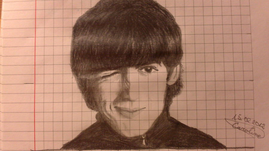 First drawing of George Harrison by Lola-in-the-Black