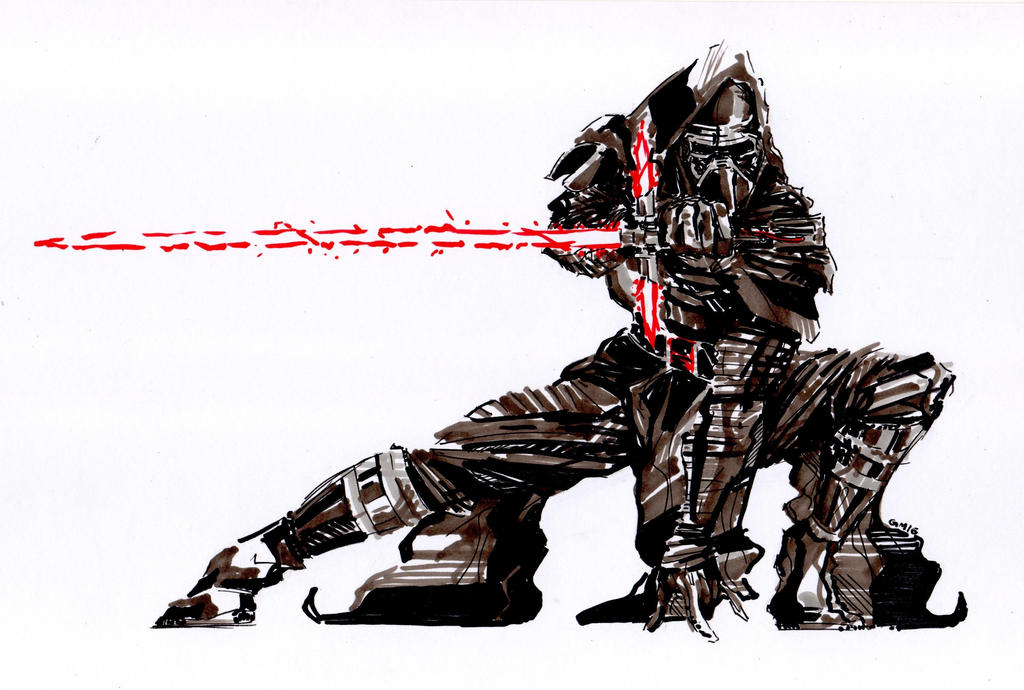 Kylo Ren (MGS style) - Star Wars VII by Guido9