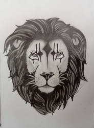 commande tattoo lion by GabyLaZombie