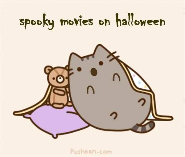 Pusheen Loves Scary Movies For Halloween By Bvym On Deviantart