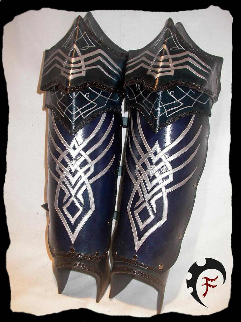 Elven armor greaves by Feral-Workshop