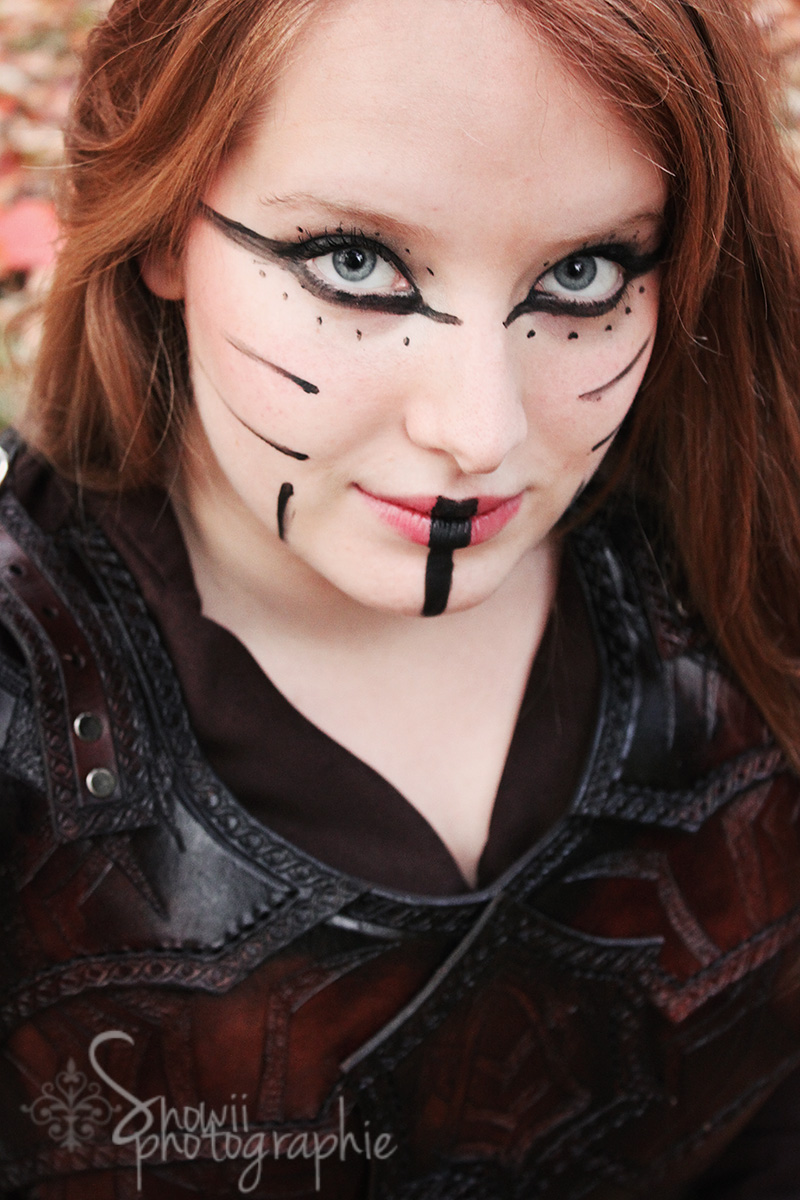 Female bandit armor close up by Feral-Workshop