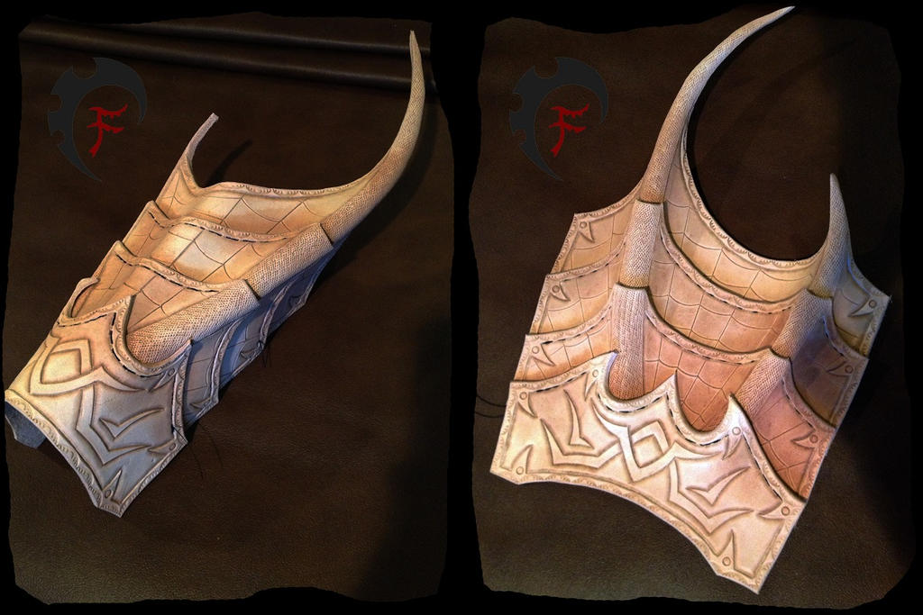 Drow bracers WIP by Feral-Workshop