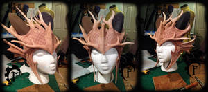 Forest dragon crown WIP