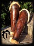 Barbarian women leg armor