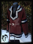 Brown and Black Larp Viking Tunic