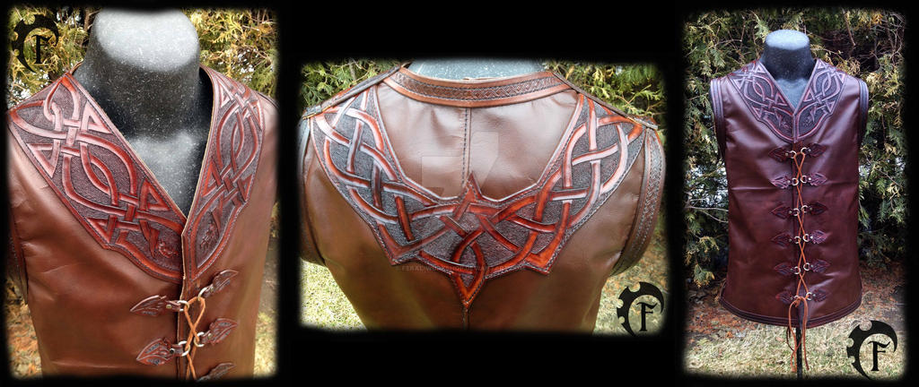 Celtic Leather Vest by Feral-Workshop