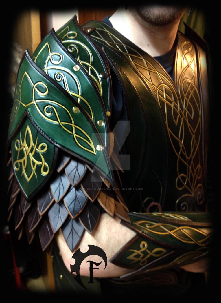 Elvish spaulders by Feral-Workshop