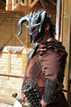 Boar leather helm