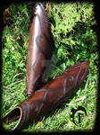 Women leather greaves