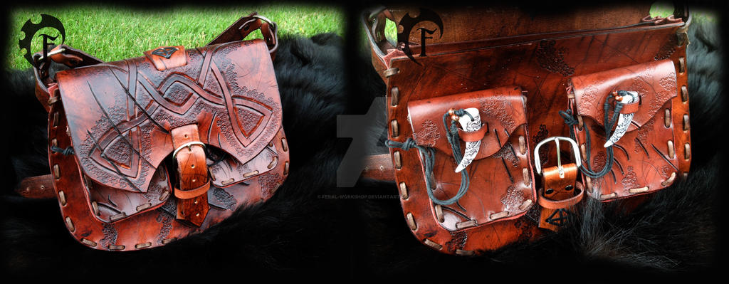 Tribal messenger bag by Feral-Workshop