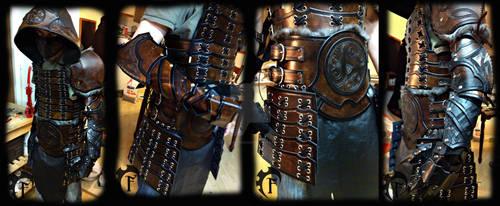 Samurai inspired leather armor