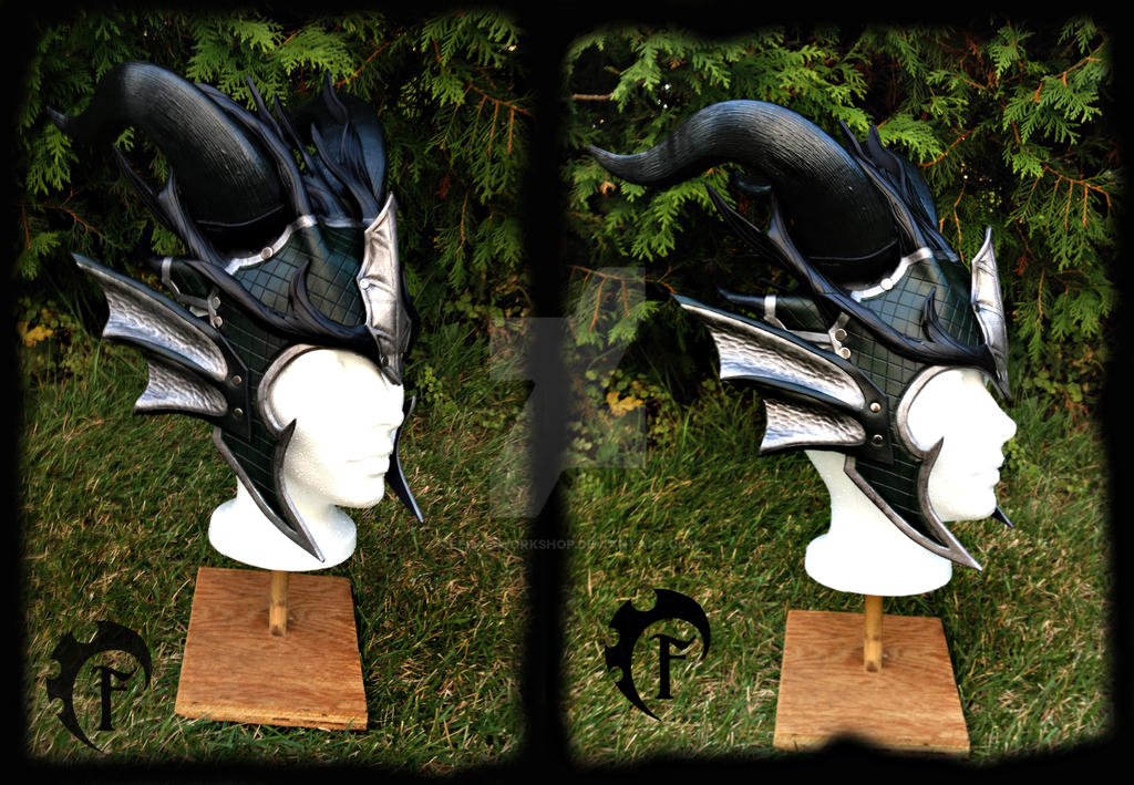Forest dragon crown in silver,green and black