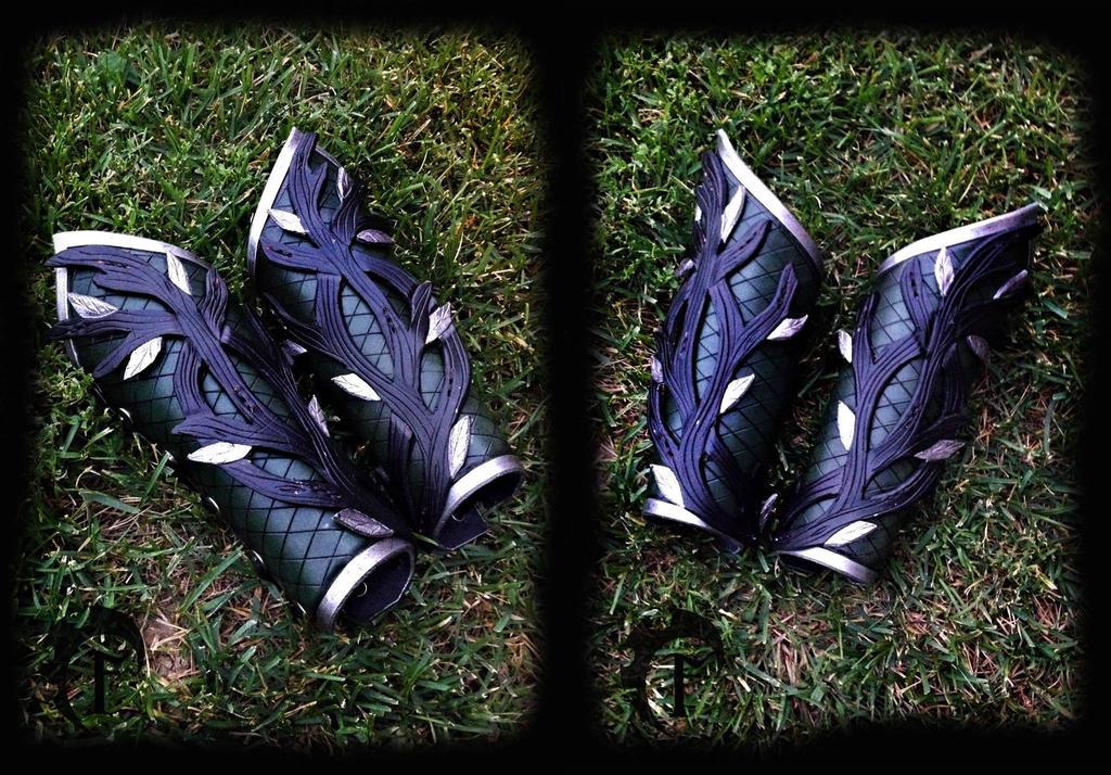 Forest Dragon Bracers by Feral-Workshop