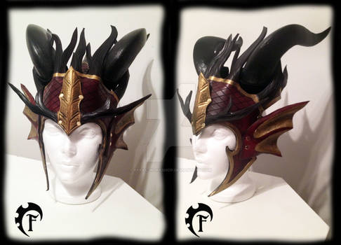 Fall forest dragon crown