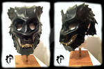 Bear leather helmet