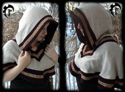 Viking/celtic shoulder cape