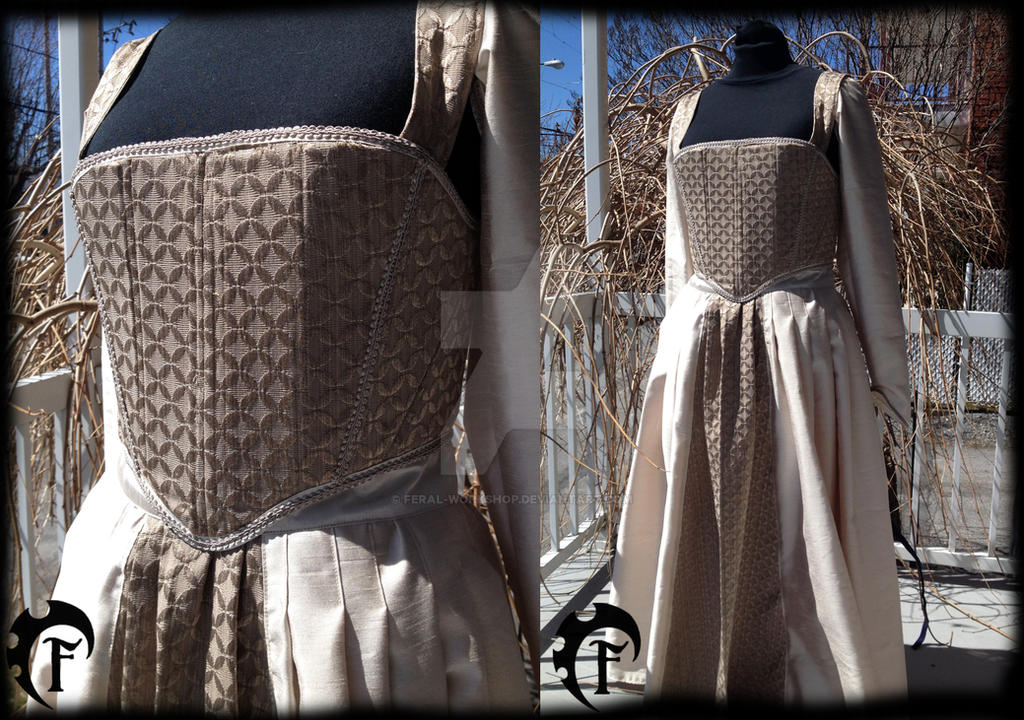 Tudor style gown by Feral-Workshop