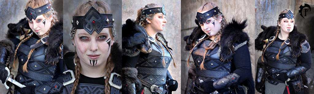 Dwarf Queen Leather armor by Feral-Workshop