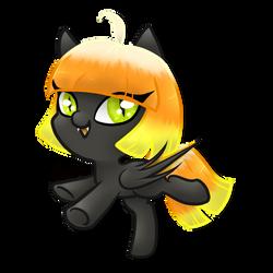 New Bat Pony OC - Tricky Treats by Avelineh