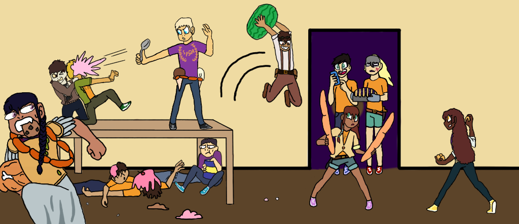 Draw The Squad ~ Food Fight ~ Pjo by RandomDexholder