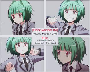 [ Pack Render #4 ] 4 Render Kayano Kaede by YuumiMasashi