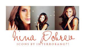 Nina Dobrev - Icons by Lhanii