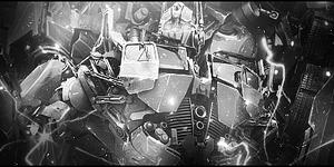 Optimus Prime - Black and White