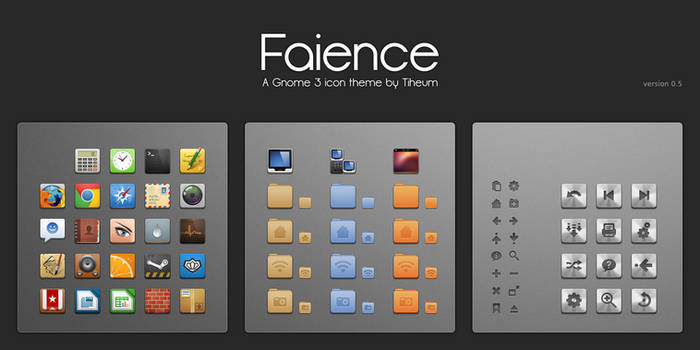 Faience icon theme