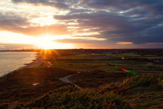 Sunset On The Coast - Hengistbury Head