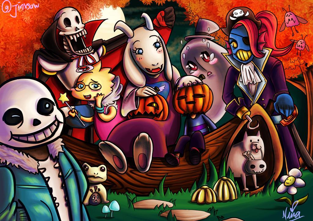 Undertale Halloween by Jinxsaw on DeviantArt