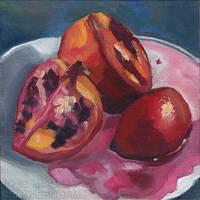 Pomegranate by JMNeedhamArt
