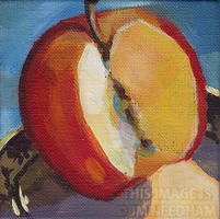 Red Apple Study by JMNeedhamArt