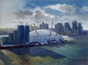 The o2 From the Air by JMNeedhamArt