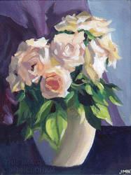 Blush Roses by JMNeedhamArt